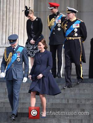 Prince William, Duke Of Cambridge, Catherine, Duchess Of Cambridge, Prince Andrew, Duke Of York, Sophie, Countess Of Wessex, Prince Edward and Earl Of Wessex