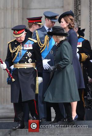 Prince Charles, Camilla, Duchess of Cornwall, Prince William Duke of Cambridge and Catherine Duchess of Cambridge - Service of commemoration...