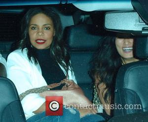 Sanaa Lathan - Sanaa Lathan leaves Craig's restaurant at midnight after dining with friends for most of the evening at...