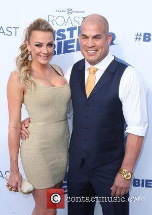 Tito Ortiz and Amber Nichole Miller - Comedy Central - Roast of Justin Bieber - Arrivals at Sony Studios -...