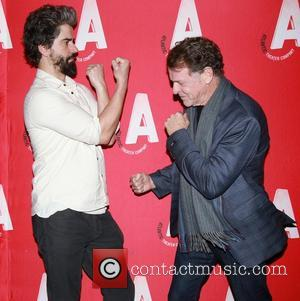 Hamish Linklater and John Noble - Opening night party for the Atlantic Theater Company production Posterity, held at Moran's restaurant...