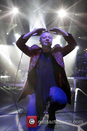 Jim Kerr - Shots of Scottish 70's rock band Simple Minds as they performed live in concert at Liseberg in...