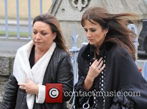 Norah Casey and Lorraine Keane - The Funeral of TodayFM DJ Tony Fenton at the Church of the Scared Heart,Donnybrook,Dublin....
