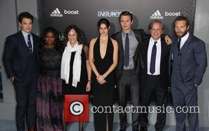 Miles Teller, Octavia Spencer, Lucy Fisher, Shailene Woodley, Ansel Elgort, Douglas Wick and Jai Courtney