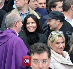 Andrea Corr and Jim Corr - The Funeral of TodayFM DJ Tony Fenton at the Church of the Scared Heart,Donnybrook,Dublin....