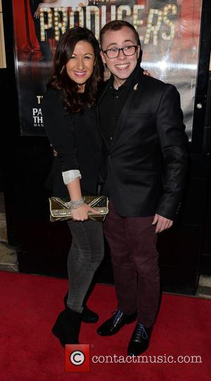 Hayley Tamaddon and Joe Tracini - Celebrities attend the Palace Theatre Manchester for The Producers VIP Gala Night at Palace...