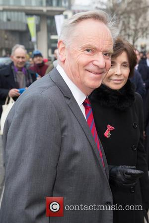 Jeffrey Archer - Memorial service for Lord Richard Attenborough at Westminster Abbey - Arrivals at Westminster Abbey - London, United...