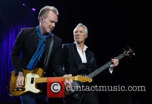 Gary Kemp and Martin Kemp - Spandau Ballet performing live on stage at the 02 Arena at North Greenwhich -...