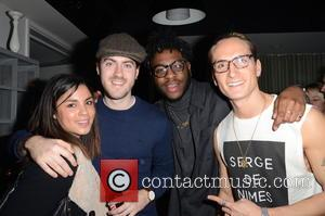 Oliver Proudlock and party guests