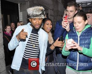 Usher - US rapper Usher seen leaving the Guinness Storehouse and posing for selfies with fans who had spotted him...