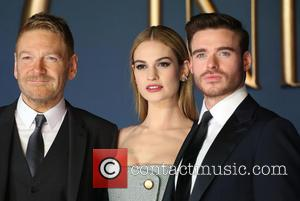 Kenneth Branagh, Lily James and Richard Madden - Shots of a host of stars as they arrived and took to...