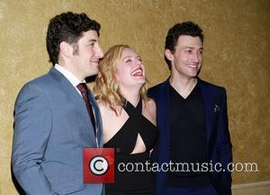 Jason Biggs, Elisabeth Moss and Bryce Pinkham - Opening night party for The Heidi Chronicles at the Music Box Theatre...
