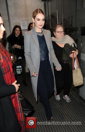 Lily James - Cinderella star Lily James at BBC Radio 1 - London, United Kingdom - Thursday 19th March 2015