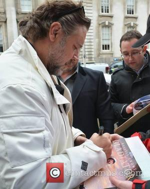 Russell Crowe - Russell Crowe arrives at The Merrion Hotel, he's in Dublin for the Jameson Dublin International Film Festival,...