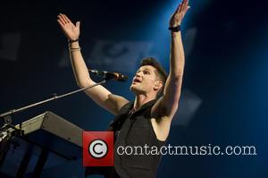 The Script and Danny O'Donoghue - Danny O'Donoghue of the The Script performing live in concert at the Ziggo Dome...