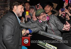 Russell Crowe - Jameson Dublin International Film Festival - 'The Water Diviner' - Arrivals - Dublin, Ireland - Friday 20th...