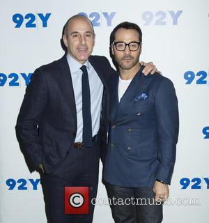 Matt Lauer and Jeremy Piven