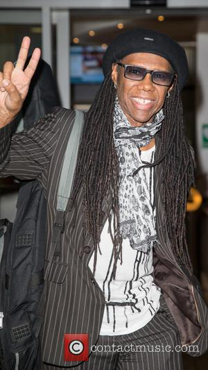 Nile Rodgers - Nile Rodgers pictured arriving at the Radio 2 studio to appear as a guest on the Chris...