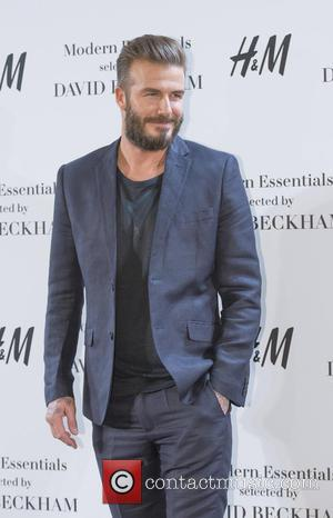 Shots of former footballer and now successful business man David Beckham as he presented the Modern Essentials collection by H&M...