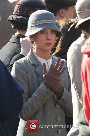 Joanne Froggatt - Cast shoot scenes for the new series of Downton Abbey in Wiltshire - Wiltshire, United Kingdom -...