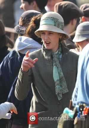 Laura Carmichael - Cast shoot scenes for the new series of Downton Abbey in Wiltshire - Wiltshire, United Kingdom -...