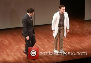 Jason Biggs and Bryce Pinkham - Opening night of The Heidi Chronicles at the Music Box Theatre - Curtain Call....