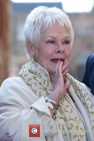 Dame Judi Dench - Bruce Denny's 'Conversion of Saint Paul' - statue unveiling at the The Actors' Church Yard in...