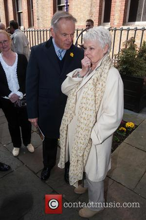Jeffrey Archer and Dame Judi Dench - Bruce Denny's 'Conversion of Saint Paul' - statue unveiling at the The Actors'...