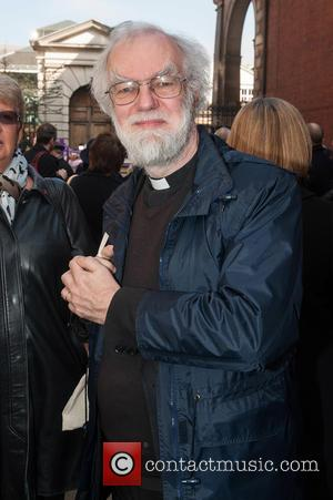 Rowan Williams - Bruce Denny's 'Conversion of Saint Paul' - statue unveiling at the The Actors' Church Yard in Covent...