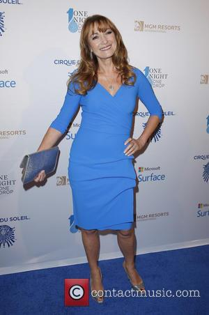 Jane Seymour - One Night For ONE DROP Blue Carpet at Mirage Hotel and Casino Las Vegas at 1 Oak...