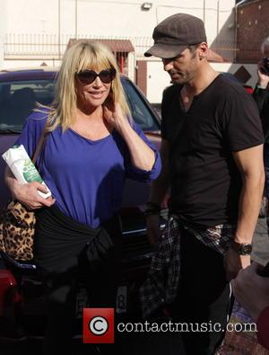 Suzanne Somers and Tony Dovolani - Celebrities arrive at the 'Dancing With The Stars' rehearsal studio - Los Angeles, California,...