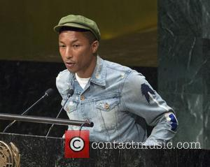 Pharrell Williams - International Day of Happiness at the UN at United Nations - New York, New York, United States...