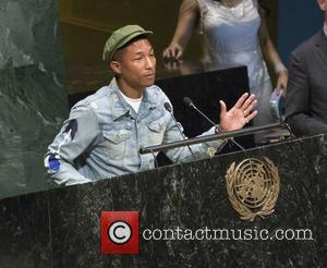 Pharrell Williams Addresses Students At United Nations Event