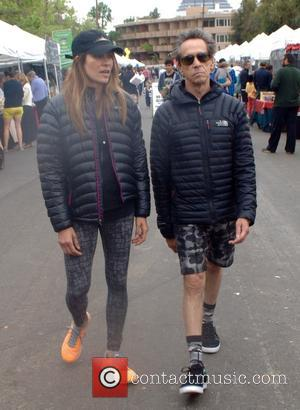 Brian Grazer and Veronica Smiley - Brian Grazer and his partner, Veronica at the Farmers Market in Brentwood at Brentwood...