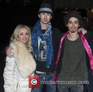 Brendan Sheehan and Robert Sheehan & fan Sinead Maria Ni Mhurchu - Robert Sheehan leaves Lillie's Bordello in the early...