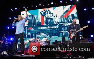 Roger Daltrey and Pete Townshend - Shots of Legendary British rock band The Who as they performed live on stage...