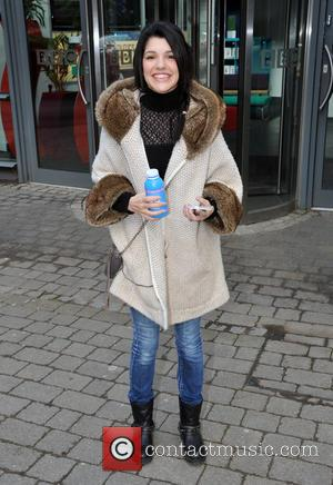 Natalie Anderson - Emmerdale actress Natalie Anderson leaving the BBC Leeds studios after an interview - Leeds, United Kingdom -...