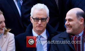 John Slattery - AMC unveils a special art installation at the 1271 Avenue of the Americas, The Time & Life...