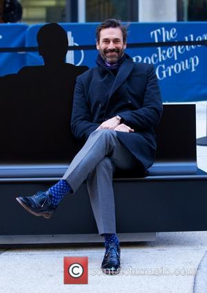 Jon Hamm - AMC unveils a special art installation at the 1271 Avenue of the Americas, The Time & Life...