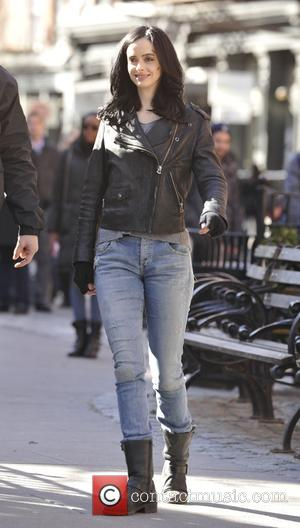 Shots of American actress and singer Krysten Ritter was spotted shooting scenes on the set of Jessica Jones in Manhattan,...
