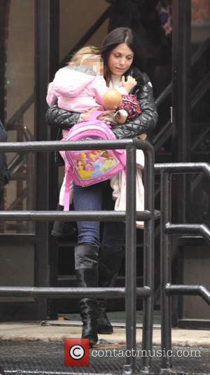 Bethenny Frankel and Bryn Hoppy - Bethenny Frankel picks up her daughter Bryn from school - New York City, New...