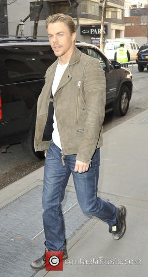Derek Hough - Guest leaving the View in New York - Manhattan, New York, United States - Wednesday 25th March...
