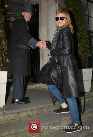 Kim Cattrall - Actress Kim Cattrall arrives at the Merrion Hotel, she's in Dublin for the Jameson Dublin International Film...