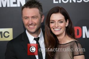 Chris Hardwick and Lydia Hearst - Celebirites attend the AMC celebration of the final 7 episodes of 'Mad Men' with...