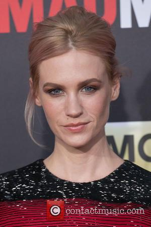 January Jones - Celebirites attend the AMC celebration of the final 7 episodes of 'Mad Men' with the Black &...