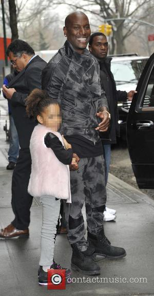 Tyrese Gibson and Shayla Gibson - Tyrese Gibson leaving ABC's 'The View' in New York City with daughter Shayla Somer...