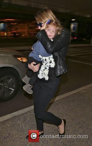 Holly Valance and Luka Violet Toni Candy - Holly Valance and her daughter arrive at Los Angeles International (LAX) airport...
