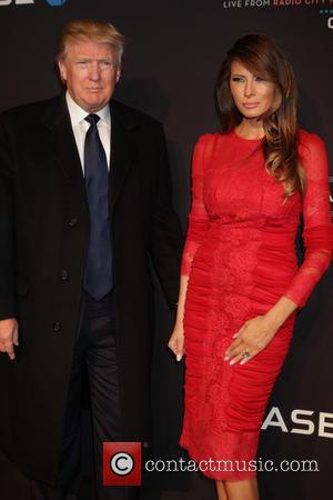 Donald Trump and Melania Trump - 2015 New York Spring Spectacular Opening Night at Radio City Music Hall - Arrivals...