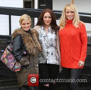 Kerry Katona, Natasha Hamilton and Liz McClarron - Atomic Kitten outside the ITV Studios - London, United Kingdom - Thursday...