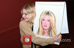 Sienna Miller - Sienna Miller's caricature portrait unveiling at Sardi's restaurant, a famous theater district eatery at Sardi's, - New...